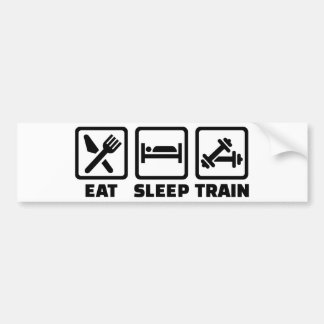 Coma el Bodybuilding del tren del sueño Pegatina Para Auto