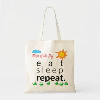 Coma el bolso de la repetición del sueño bolsa tela barata