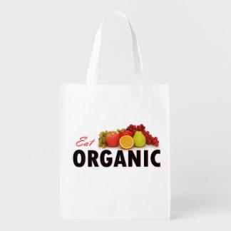 Coma el bolso de ultramarinos orgánico bolsa reutilizable