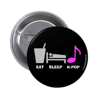 Coma el botón de Kpop del sueño (oscuro) Pin