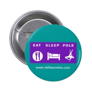 Coma el botón de poste del sueño pins
