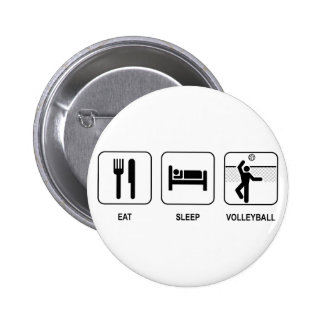Coma el botón del voleibol del sueño pin redondo de 2 pulgadas