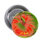 coma el botón enrrollado de los veggies pins