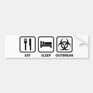 Coma el brote del sueño pegatina para auto