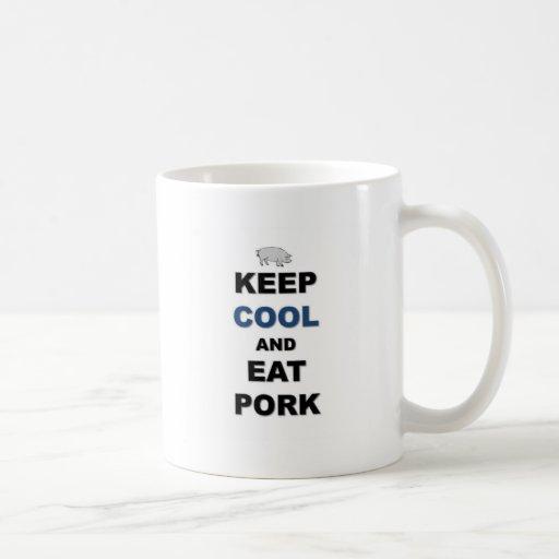 Coma el cerdo taza de café