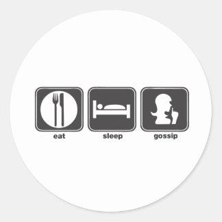 Coma el chisme del sueño etiquetas
