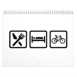 Coma el ciclo del ciclo del sueño calendarios de pared