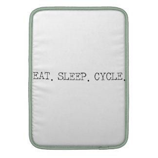 Coma el ciclo del sueño funda para MacBook