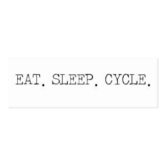 Coma el ciclo del sueño plantilla de tarjeta de visita