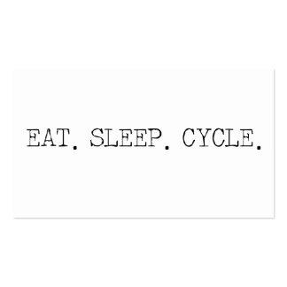 Coma el ciclo del sueño tarjetas de visita