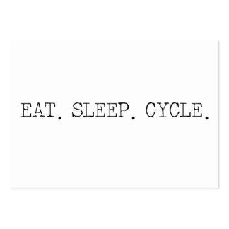 Coma el ciclo del sueño tarjetas de visita grandes