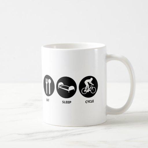 Coma el ciclo del sueño taza de café