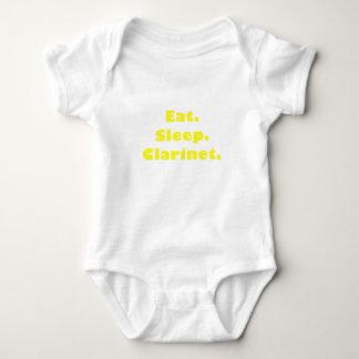 Coma el Clarinet del sueño Mameluco De Bebé