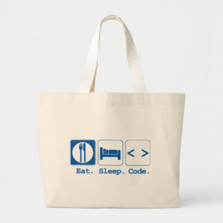 coma el código del sueño el HTML Bolsas Lienzo