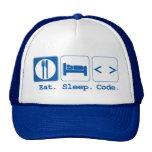 coma el código del sueño (el HTML) Gorro De Camionero