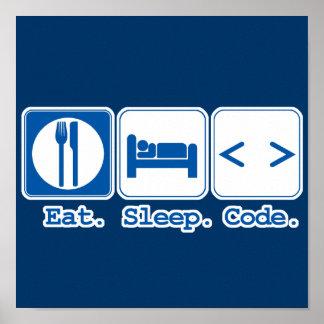 coma el código del sueño (el HTML) Póster