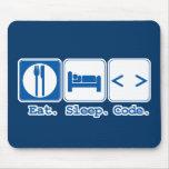 coma el código del sueño (el HTML) Alfombrillas De Ratón