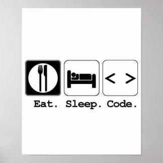 coma el código del sueño póster
