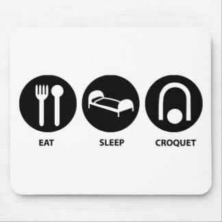 Coma el croquet del sueño alfombrillas de raton