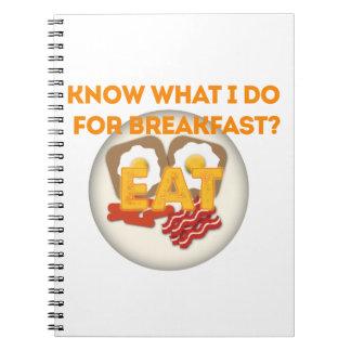 Coma el desayuno libreta