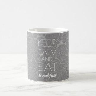 Coma el desayuno taza