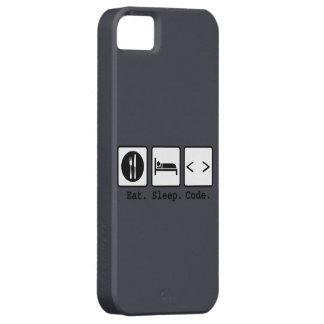 coma el desgaste del empollón del código del sueño funda para iPhone SE/5/5s
