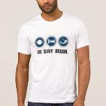 Coma el diseño del sueño (azul) camisetas