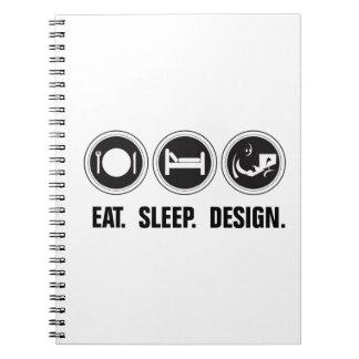 Coma el diseño del sueño cuaderno