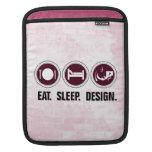 Coma el diseño del sueño (el rosa) funda para iPads