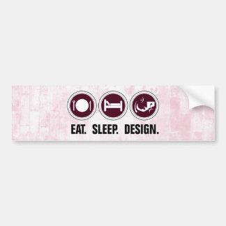 Coma el diseño del sueño (el rosa) pegatina para auto