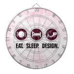 Coma el diseño del sueño (el rosa) tablero dardos