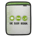 Coma el diseño del sueño (el verde) fundas para iPads