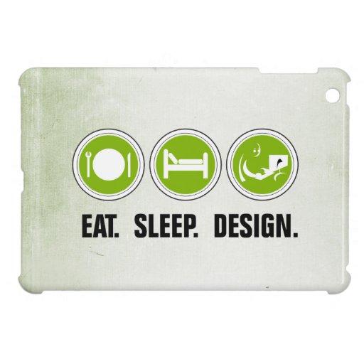 Coma el diseño del sueño (el verde) iPad mini funda