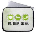 Coma el diseño del sueño (el verde) manga portátil