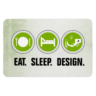 Coma el diseño del sueño (el verde) rectangle magnet