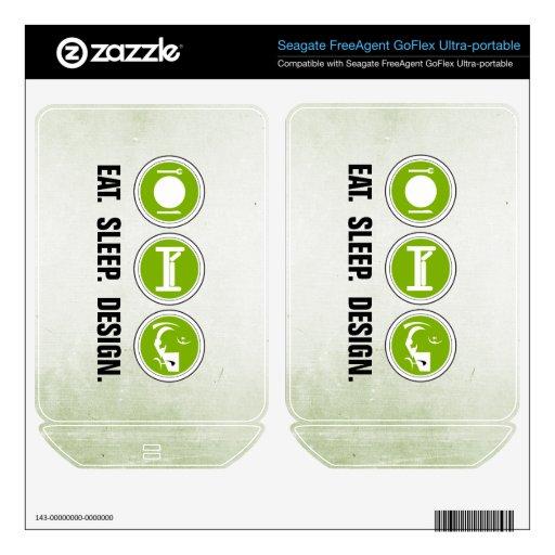 Coma el diseño del sueño (el verde) FreeAgent GoFlex skin