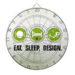 Coma el diseño del sueño (el verde) tabla dardos