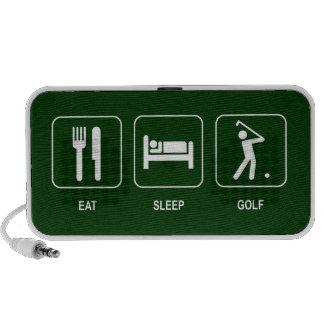 Coma el Doodle del golf del sueño Altavoces De Viaje