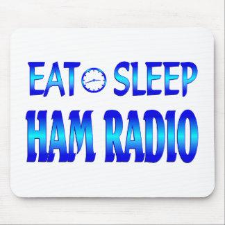 Coma el equipo de radio-aficionado del sueño alfombrillas de raton