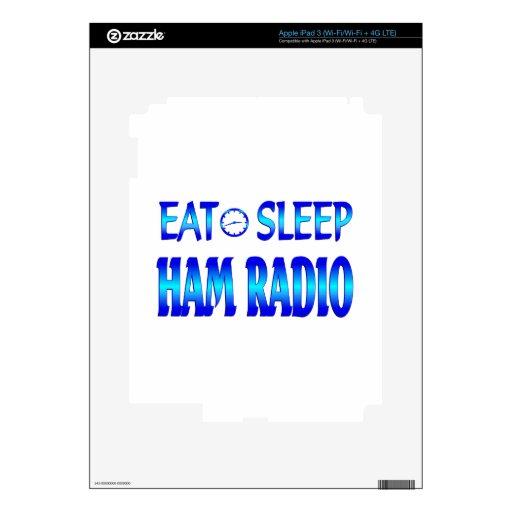 Coma el equipo de radio-aficionado del sueño pegatinas skins para iPad 3