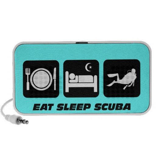 coma el equipo de submarinismo del sueño laptop altavoces