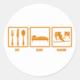 Coma el eslalom del sueño etiquetas redondas