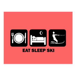 coma el esquí acuático del sueño postales