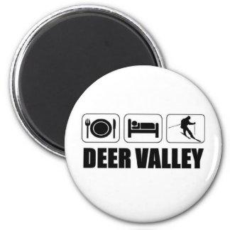 Coma el esquí Deer Valley del sueño Imán Redondo 5 Cm