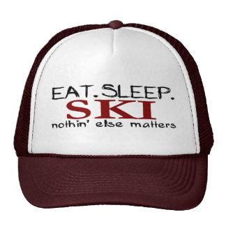 Coma el esquí del sueño gorras