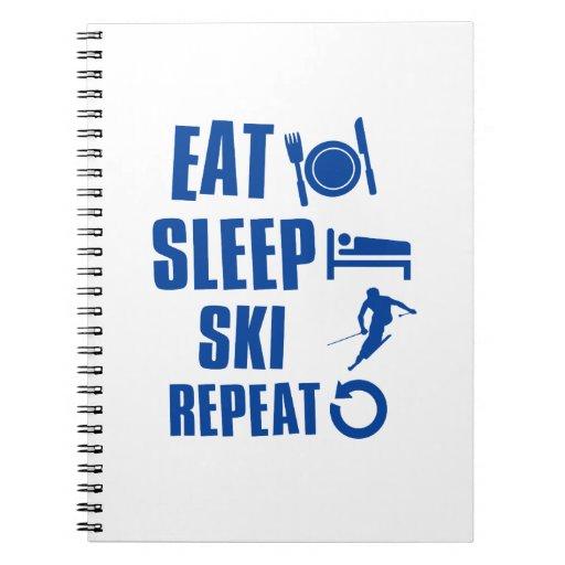 Coma el esquí del sueño libreta