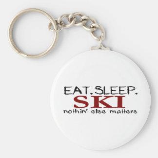 Coma el esquí del sueño llavero personalizado