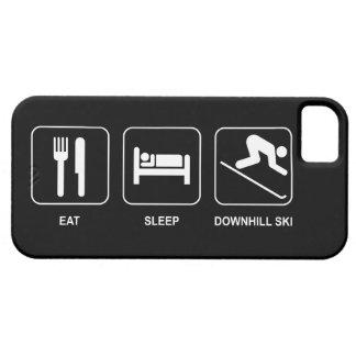 Coma el esquí en declive del sueño iPhone 5 Case-Mate protectores