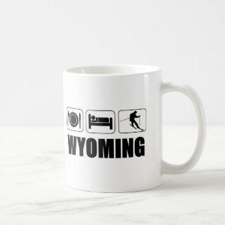 Coma el esquí Wyoming del sueño Taza