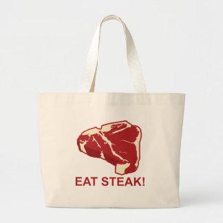 Coma el filete bolsa tela grande